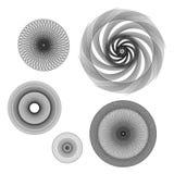 Geometrische roterende rozet Stock Afbeeldingen