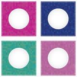 Geometrische runde Rahmenhintergründe des Mosaiks Stockfotografie
