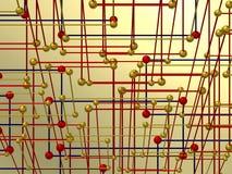 Geometrische samenstelling met interconnectie vector illustratie