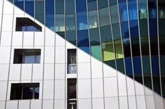 Geometrische samenstelling van een modern gebouw Royalty-vrije Stock Afbeeldingen