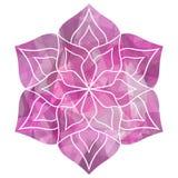 Geometrische schöne Blumen-Mandala stock abbildung