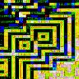 Geometrische Schaltkreis-Zusammenfassung lizenzfreie stockbilder
