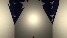 Geometrische Schleife des Hintergrundes 3d mit US-Flagge lizenzfreie abbildung