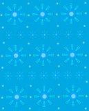 Geometrische Sneeuwvlok op Blauw Royalty-vrije Stock Foto