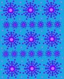 Geometrische Sneeuwvlokken op Aqua Stock Foto
