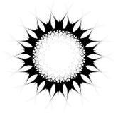 Geometrische spiraalvormige elementenreeks Abstracte werveling, draaigrafiek stock illustratie