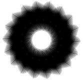 Geometrische spiraalvormige elementenreeks Abstracte werveling, draaigrafiek royalty-vrije illustratie