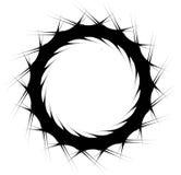 Geometrische spiraalvormige elementenreeks Abstracte werveling, draaigrafiek vector illustratie