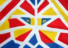 Geometrische sportvlag Royalty-vrije Stock Fotografie