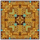 Geometrische stammen kleurrijke etnische abstracte van het het kaderornament van het ontwerp decoratieve patroon vectorillustrati Stock Fotografie