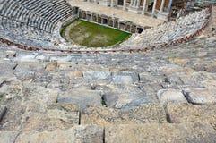Geometrische stappen van het oude theater van Hierapolis royalty-vrije stock foto's