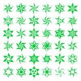 Geometrische sterpictogrammen Royalty-vrije Stock Afbeeldingen