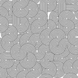 Geometrische Streifenlinie Kunstdesignschattenbild auf weißem Hintergrund Stockfotografie