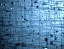 Geometrische Structuur Abstracte Binaire Blokken Als achtergrond stock foto