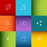 Geometrische Symboolachtergrond Royalty-vrije Stock Afbeelding