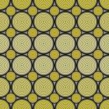 Geometrische Textuur met Gele Cirkels op Gray Background Stock Foto's