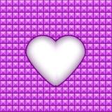 Geometrische textuur met hart in een centrum Royalty-vrije Stock Afbeelding