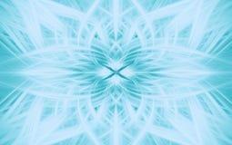 Geometrische turkooise patroonfractal als achtergrond symmetrie vector illustratie