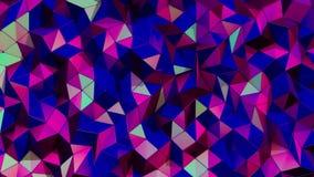 Geometrische ultraviolette achtergrond Mooi driehoekenpatroon die op een elegante en dynamische manier golven Levendige blauwe to stock videobeelden