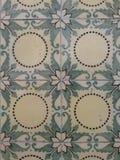 Geometrische und Blumenfliesen Lizenzfreies Stockfoto