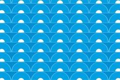 Geometrische van patroongolven vector als achtergrond Royalty-vrije Stock Afbeelding
