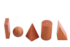 Geometrische vaste lichamen Royalty-vrije Stock Foto's