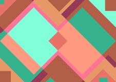 Geometrische vectorillustratie als achtergrond Naadloze retro stijlachtergrond stock illustratie