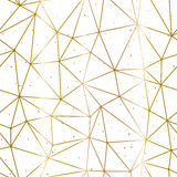 Geometrische veelhoekige gouden en witte vector als achtergrond vector illustratie