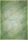 Geometrische Verzierung auf einem alten Papier Stockbild