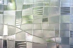 Geometrische Verzierung auf einem alten Papier Stockfoto