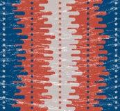 Geometrische Verzierung auf einem alten Papier Retro- Beschaffenheit Flache Art Gemalt in den Farben der amerikanischer Flagge Fe Stockfotos