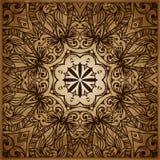 Geometrische Verzierung auf einem alten Papier Retro- Grußkarte, Lizenzfreies Stockfoto