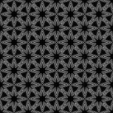 Geometrische Verzierung Nahtloses Schwarzweiss-Muster Stockfotografie