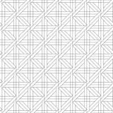 Geometrische Verzierung Nahtloses Schwarzweiss-Muster Lizenzfreie Stockbilder
