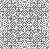 Geometrische Verzierungen des islamischen Vektors basiert auf traditioneller arabischer Kunst Orientalisches nahtloses Muster Tür vektor abbildung