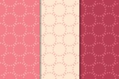 Geometrische Verzierungen des Kirschrotes Set nahtlose Muster Lizenzfreies Stockbild