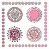 Geometrische Verzierungen: Rosa Stockfotografie