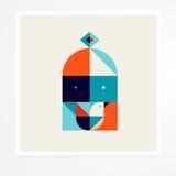Geometrische vogel Stock Illustratie
