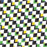 Geometrische vorm op de witte achtergrond Stock Fotografie
