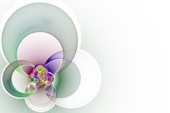 Geometrische vorm van gekleurde kruisende cirkels Stock Foto