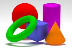 Geometrische vormen stock illustratie