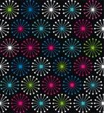 Geometrische vormen die van lijnenstralen cirkels vormen royalty-vrije illustratie