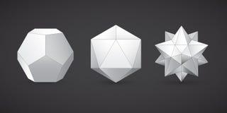Geometrische vormen, dodecahedron, vector Royalty-vrije Stock Foto's