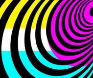 Geometrische vormenachtergrond in turkoois, purple, wit, zwarte en geel royalty-vrije stock afbeeldingen