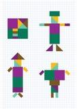 Geometrische vormenmensen Royalty-vrije Stock Foto's