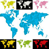 Geometrische Weltkarte lizenzfreie abbildung