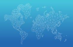 Geometrische wereldkaart Royalty-vrije Stock Afbeelding