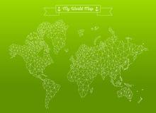 Geometrische wereldkaart Stock Afbeeldingen