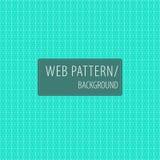 Geometrische wit-turkooise patroon-achtergrond Stock Afbeeldingen