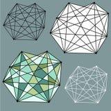 Geometrische Zusammenfassungen Stockfotos